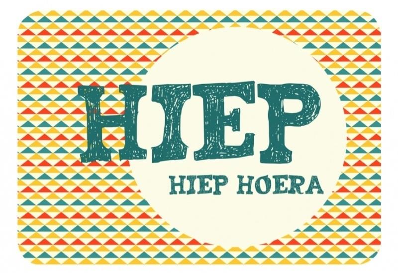 Postkaart - Hiep Hiep Hoera
