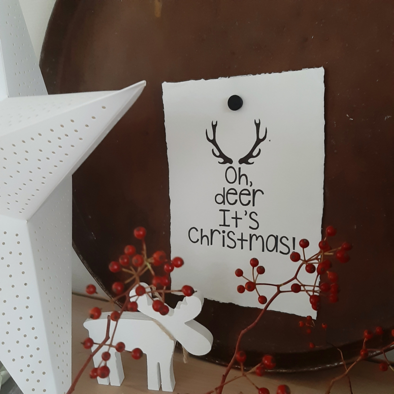 Poster A4-Oh deer it's Christmas