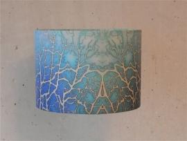 """Lampenkap: """"wier Abstract"""" kleur LICHT BLAUW"""