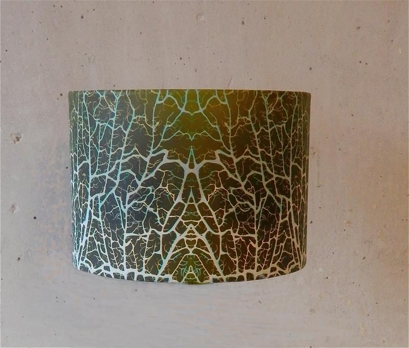 """Lampenkap: """"wier Abstract"""" kleur GROEN"""