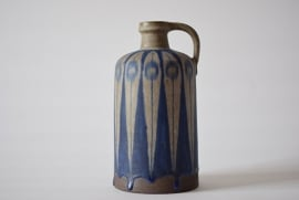 SOLD Thomas Toft Denmark Tall Bottle Vase blue grey Danish midcentury pottery