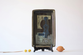 Kai Klinge Denmark Ceramic Tray / Wall Plate Still Life Decor Klinge Keramik Danish Mid-century Studio Pottery