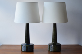 PALSHUS Denmark Pair of tall table lamps green blue APL-S DL 26 Danish Midcentury // PRICE UPON REQUEST //