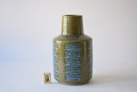 PALSHUS Denmark Huge Vase Mossgreen & Blue  APL-S C26 Danish midcentury pottery // PRICE UPON REQUEST