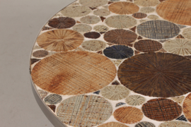 Tue Poulsen Round Coffee Table with Stoneware Tiles Danish Mid-century // PRICE UPON REQUEST //