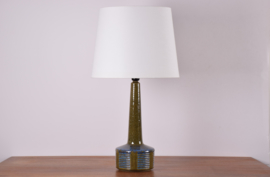SOLD Incl New Lampshade PALSHUS Denmark Tall Table Lamp Moss Green & Blue Danish Mid-century Ceramic Lighting // PRICE UPON REQUEST