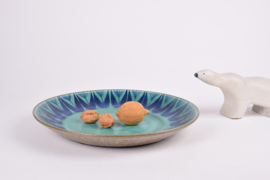 SOLD Thomas Toft Denmark TUNDRA Large Circular Platter Danish Mid-century Pottery