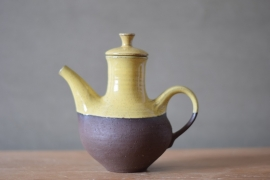 Ditlev Keramik small Teapot / Coffeepot yellow Danish Studio Pottery midcentury
