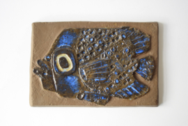 Inge-Lise Koefoed for Aluminia / Royal Copenhagen Wall Plaque Tile Fish Motif 164/2912 Danish Midcentury