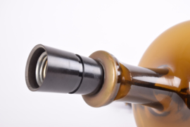Kastrup Holmegaard for Fog & Mørup BRAMS 3 Table Lamp Brown Glass Lisbeth Brams Danish Mid-century Lighting