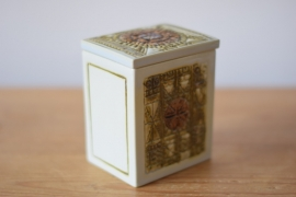 Kari Christensen for Aluminia / Royal Copenhagen lidded box no 522/3335 Danish midcentury