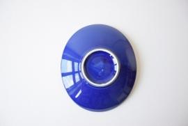 Rare Handsigned Quistgaard for Eslau Denmark oval dish tree & bird motif cobalt blue Danish midcentury