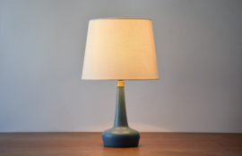 Incl New Lampshade PALSHUS / Le Klint Table Lamp Blue Haresfur Glaze Danish Mid-century Ceramic Lighting // PRICE UPON REQUEST