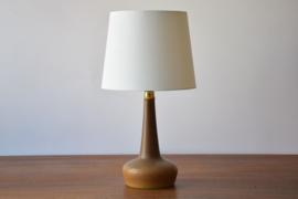 Incl New Lampshade! PALSHUS / Le Klint Denmark Table Lamp Ochre Brown Haresfur Glaze Danish Mid-century