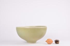 Per Linnemann-Schmidt for PALSHUS Denmark Huge Bowl Ø 29 cm Olive Green Haresfur Glaze Danish Mid-century Pottery // PRICE UPON REQUEST //