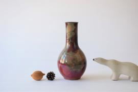 Kähler HAK Denmark Tall Vase Red Lustre Glaze Danish Mid-century Pottery ca 1030s