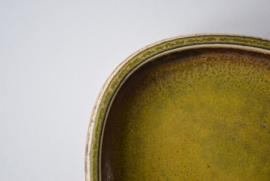 Nils Thorsson for Royal Copenhagen Square Dish with Solfatara Glaze Danish Mid-century