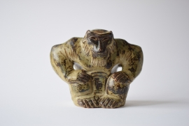 Knud Kyhn for Royal Copenhagen Big Ape Gorilla Figure Stoneware with Sung Glaze no 20142