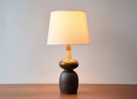Erik Graeser Sculptural Table Lamp Ceramic & Teak Wood Danish Mid-century Ceramic Lighting // PRICE UPON REQUEST