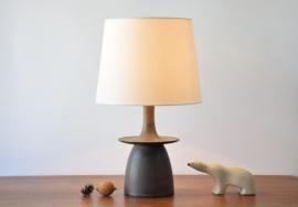 Mid-century Danish Table Lamp by Hegnetslund Brown Blue Purple Glaze Sculptural Shape Scandinavian Modern Ceramic Lighting  // PRICE UPON REQUEST //