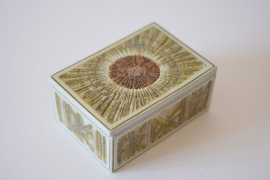 Kari Christensen for Aluminia / Royal Copenhagen Large Lidded Box 518/3334 Danish midcentury
