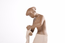 """Rare! Johannes Hedegaard for Royal Copenhagen Denmark  """"Martha"""" Figurine Woman with Clothes no. 21424 Danish Collectible Pottery"""