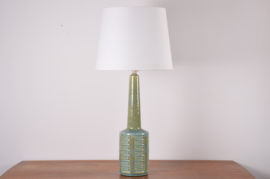 SOLD Incl New Lampshade PALSHUS Denmark Huge Table Lamp Green & Blue Danish Mid-century Ceramic Lighting