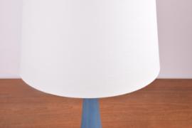 Incl New Lampshade PALSHUS / Le Klint Table Lamp Blue Haresfur Glaze Danish Mid-century Ceramic Lighting // PRICE UPON REQUEST