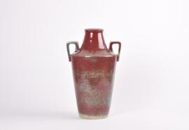 Michael Andersen & Søn Denmark Tall Handled Vase Oxblood & Green Glaze Art Deco Danish Mid-century Ceramic // PRICE UPON REQUEST