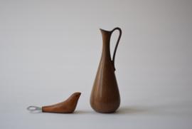 Gunnar Nylund for Rörstrand Sweden Pitcher Vase Handled Jug GN ARL Scandinavian pottery midcentury