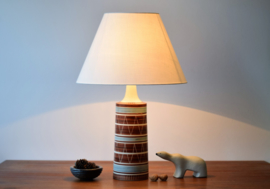 Incl New Lampshade! Mørkov Denmark Tall Table Lamp Ethnic Stripe Decor Danish Mid-century  // PRICE UPON REQUEST