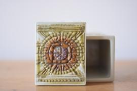 Kari Christensen for Aluminia / Royal Copenhagen lidded box no 522/3335 Danish midcentury