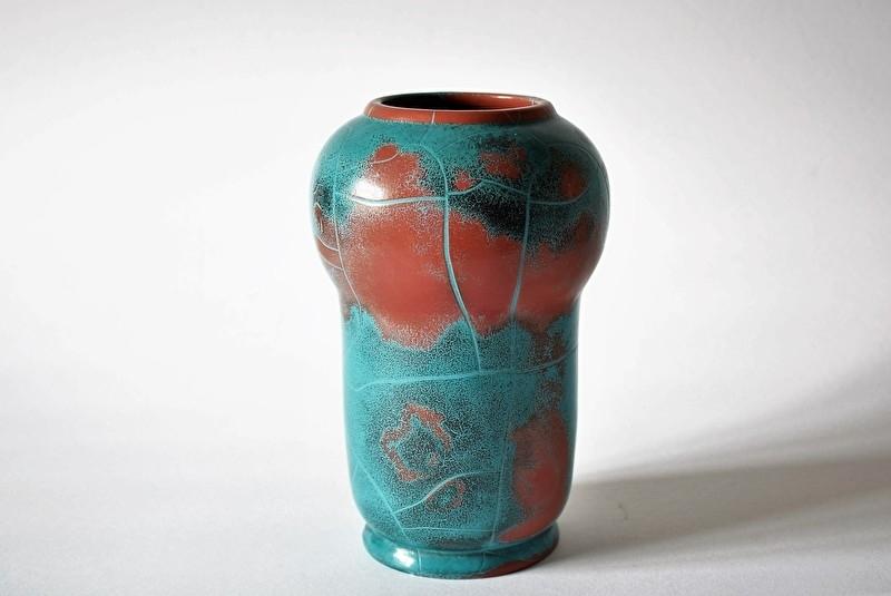 Axel Sørensen for Ibsens Enke Denmark Vase Danit glaze 1930s Danish midcentury
