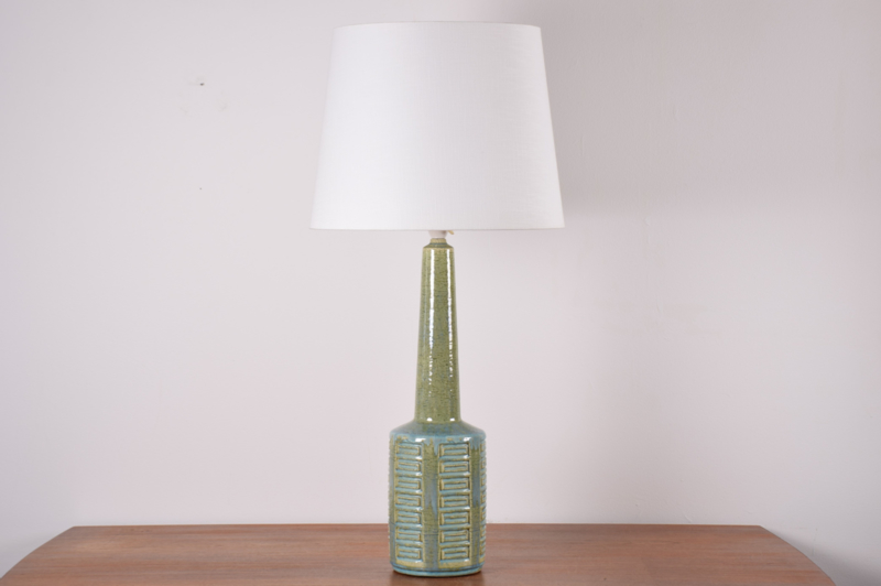 Incl New Lampshade PALSHUS Denmark Huge Table Lamp Green & Blue Danish Mid-century Ceramic Lighting // PRICE UPON REQUEST