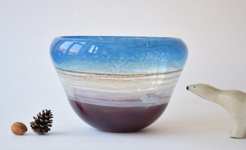 SOLD Kosta Boda Sweden Very Large Glass Bowl Scandinavian Mid-century