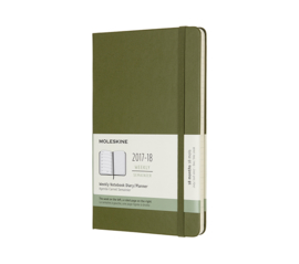 Moleskine 18 Months Weekly Notebook Elm Green