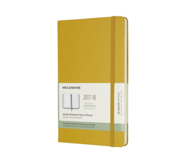 Moleskine 18 Months Weekly Notebook Maple Yellow