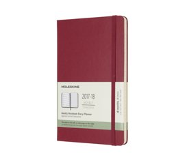 Moleskine 18 Months Weekly Notebook Maple Berry Rose Hard