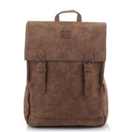 Leather Backpack Camel