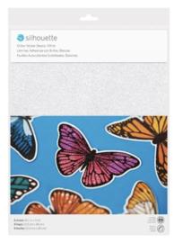 Printbaar stickerpapier - Glitter White