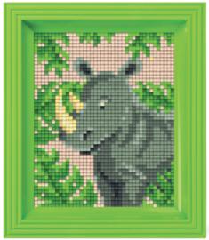 Pixel geschenkverpakking - Jungle neushoorn