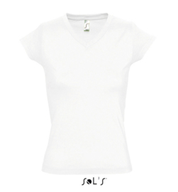 Women T-shirt V-hals - White