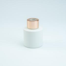 Parfumflesje Cylinder White met rosegold schroefdop - 50ml