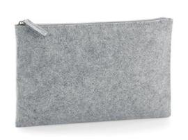 Felt Accessory Pouch - Grey Melange (one size)