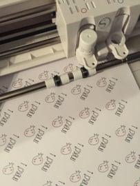Printbaar Wit Stickerpapier (5xA4)
