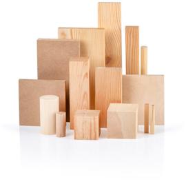 Allerlei houten vormen