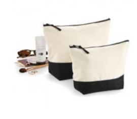 Dipped Accessory Bag - Natural/Black - L