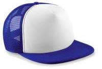 Vintage Trucker Cap - Royal Blue & White
