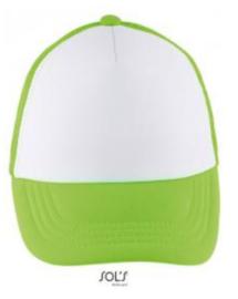 Bubble Kids Cap - White/Neon Green