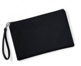 Canvas Wristlet -  Black/Black